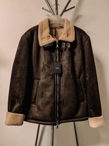Zimní bunda s kožíškem z eko kůže