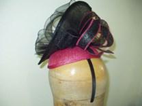 Letní sisalový klobouček na čelence č.5074