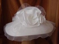 Svatební klobouk saténový č.6492