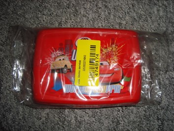 Krabička, box na svačinu Cars, červená, 1,3 l