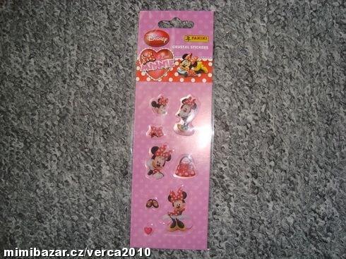 Nádherné plastické samolepky Disney Minnie