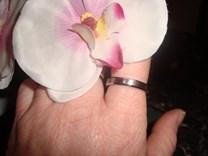 NOVÝ prsten, prstýnek, chirurgická ocel + kamínek