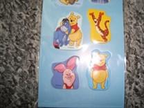 Nádherné plastické samolepky Disney Medvídek Pú
