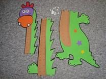 Krásný pěnový dětský metr Brontosaurus