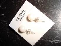 Krásné náušnice stříbro 925/1000 s umělou perlou