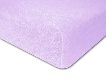Froté prostěradlo elastické fialové