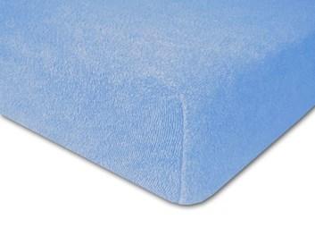 Froté prostěradlo elastické modré
