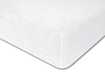 Froté prostěradlo elastické bílé