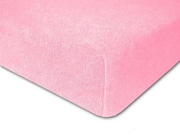 Froté prostěradlo elastické růžové