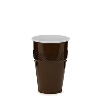 Pohárek 180ml hnědobílý na kávu 73268
