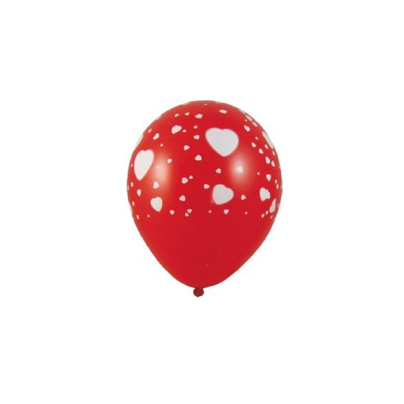 """Balonky nafukovací """"BÍLÁ SRDCE"""" á 5ks 59541"""