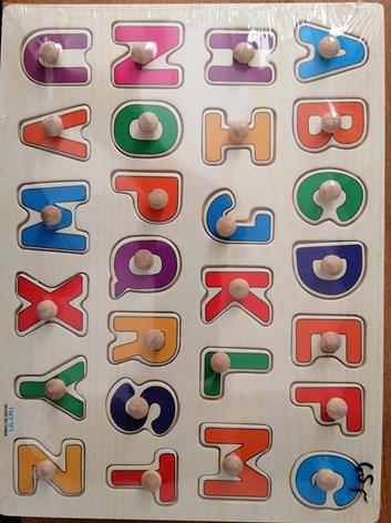 VKLÁDAČKA dřevěná, abeceda,doprava,farma