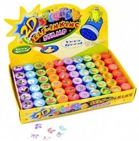 Colorino sada dětských razítek 6ks+2podložky STAMPS