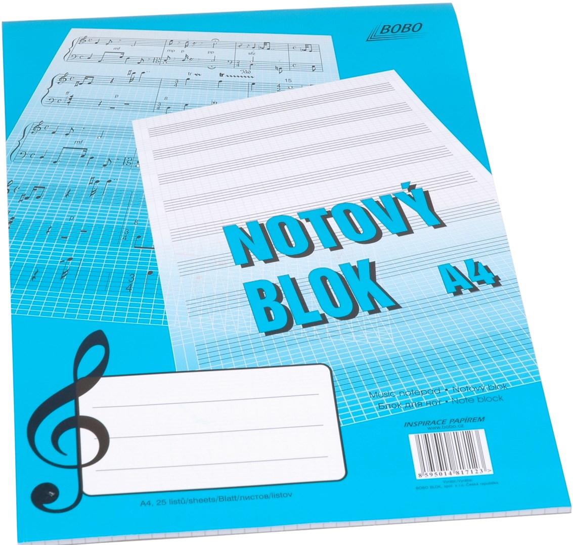 Sešit notový blok A4 25 listů
