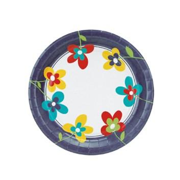 Párty pohárek papírový  á10ks-POTISK FLOWER