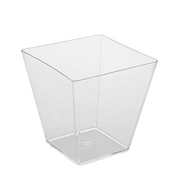 FINGERFOOD kelímek hranatý čirý7,2x7,2x7,2cm 230ml á20ks 66331