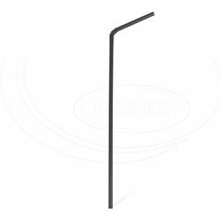 Slámka JUMBO  černé s krčkem 25cm BIO 250ks 40619