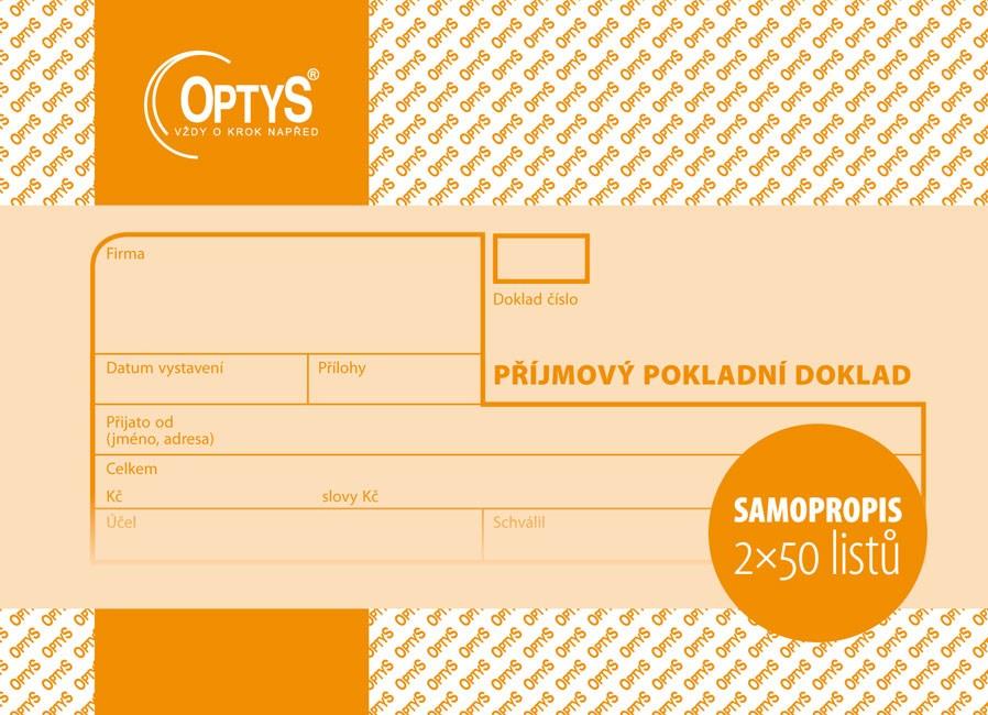 Příjmový pokl.dokl. 2*50 NCR nečísl. OP091