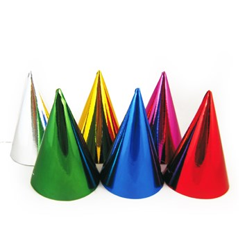 Klobouček papírový barevný 6ks 66841