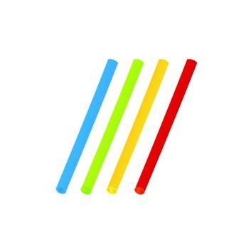 Slámky koktejlové barevné mix 13cm á150ks 66130