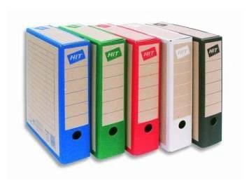 Archivní krabice HIT, potisk modrá náplň do boxu