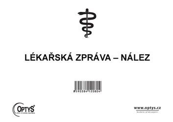 Lékařská zpráva - nález A5 50l. OP208