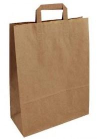 Taška papírová 18x8x24 hnědá mini Wrapco