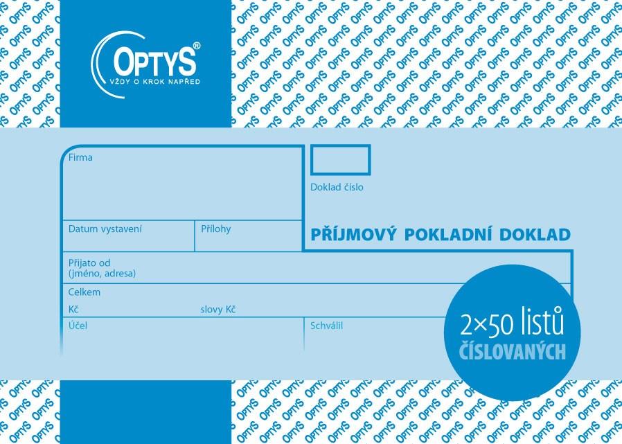 Příjmový pokl.dokl. 2*50-obyč.čísl.OPT OP039