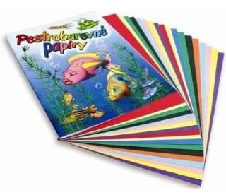 Složky barevných papírů 20listů,16 listů