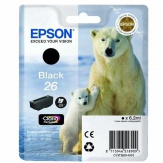Epson XP 800, XP 700 black orginál E26 xl  T2621401