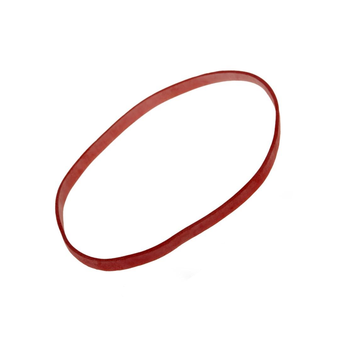 Gumičky balené  červené silné, ploché (4 mm, O 8 cm) 1kg  64408