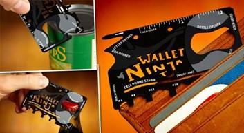 Ocelová multifunkční karta Ninja Wallet 18v1