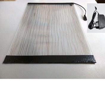 VNZ332 KOMPLET Vyhřívaná deska - střední 20W A3 (40x30cm) polykarbonát