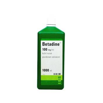 Betadine 1000ml liquid dezinfekční roztok zelený