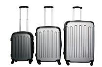 Sada plastových kufrů T-Class JD-2045,vel.M,L,XL, stříbrně šedá barva