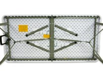 Skládací obdélníkový stůl délky 122cm, PŮLENÝ 61cm, HDPE