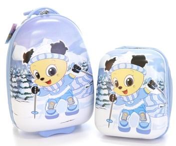 Dětský kufr s batohem značky T-Class - s motivem lyžaře