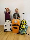 Dětský cestovní kufr MEDVĚD se stavebnicí