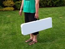 Lavice plastová skládací půlená 183 x 29 cm