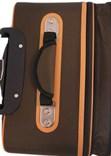 Sada 3 kufrů T-Class TC321 TEXTIL hnědá