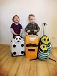 Dětský cestovní kufr PES se stavebnicí