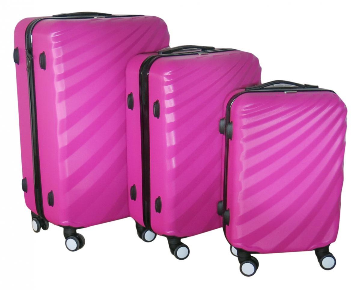 Sada 3 kufrů T-Class TPL3019 ABS růžová