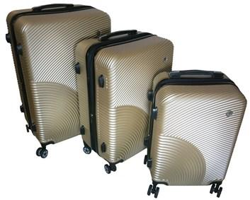 Sada 3 cestovních kufrů T-Class® TC2011 s TSA zámkem  champagne