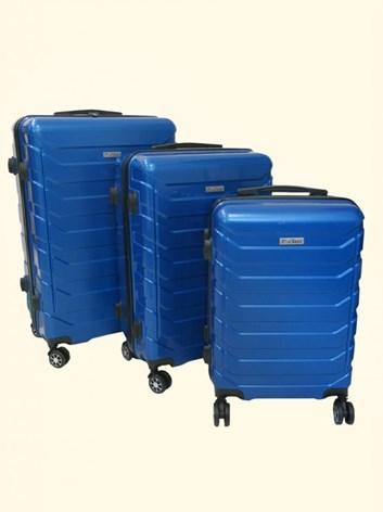 Sada 3 cestovních kufrů T-Class® TC618 s TSA zámkem matná modrá