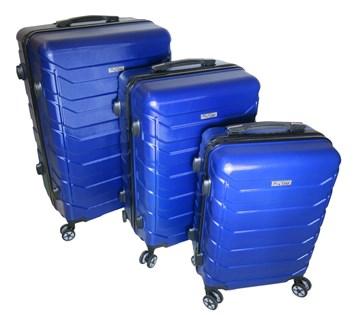Sada 3 cestovních kufrů T-Class® TC618 s TSA zámkem modrá