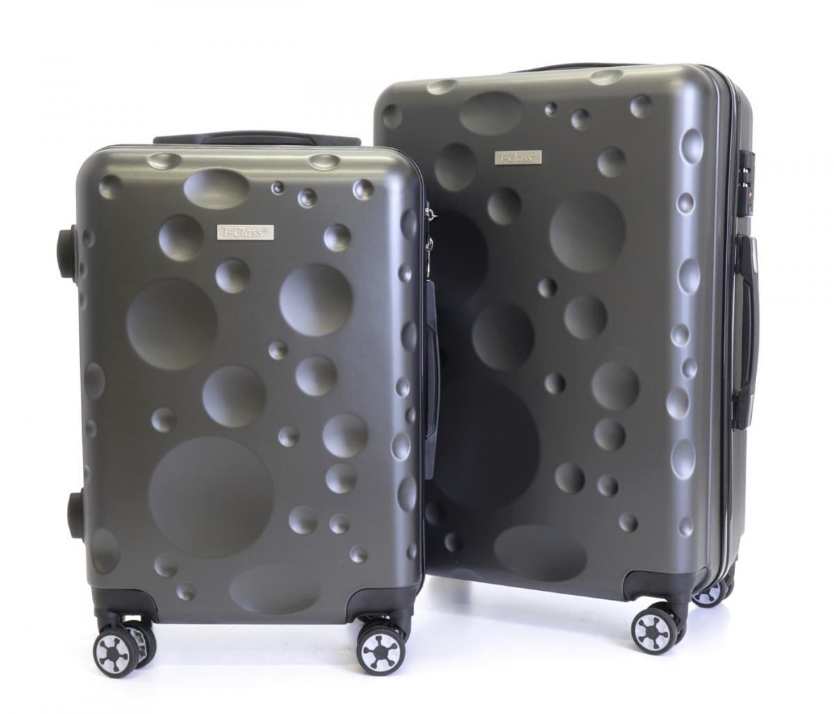 Sada 2 cestovních kufrů T-Class® TC628,s TSA zámkem  šedá
