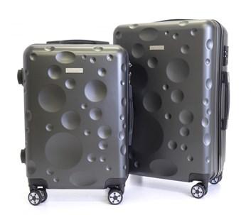 Sada 2 cestovních kufrů T-Class® TC628 s TSA zámkem  šedý