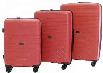 Sada 3 cestovních kufrů T-Class 1991  , DoubleLock - červená