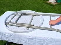 kládací bufetový stolek průměr 80cm, HDPE