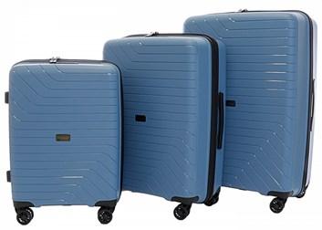 Sada 3 cestovních kufrů T-Class 1991  , DoubleLock - světle modrá